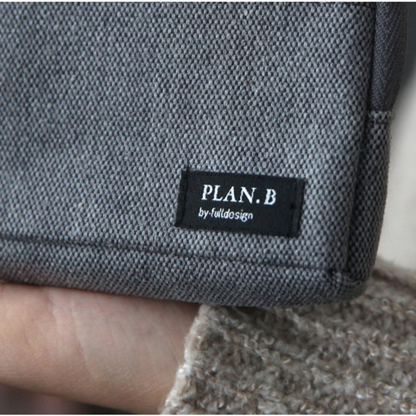 Light gray - Make your second plan multi small pocket pouch