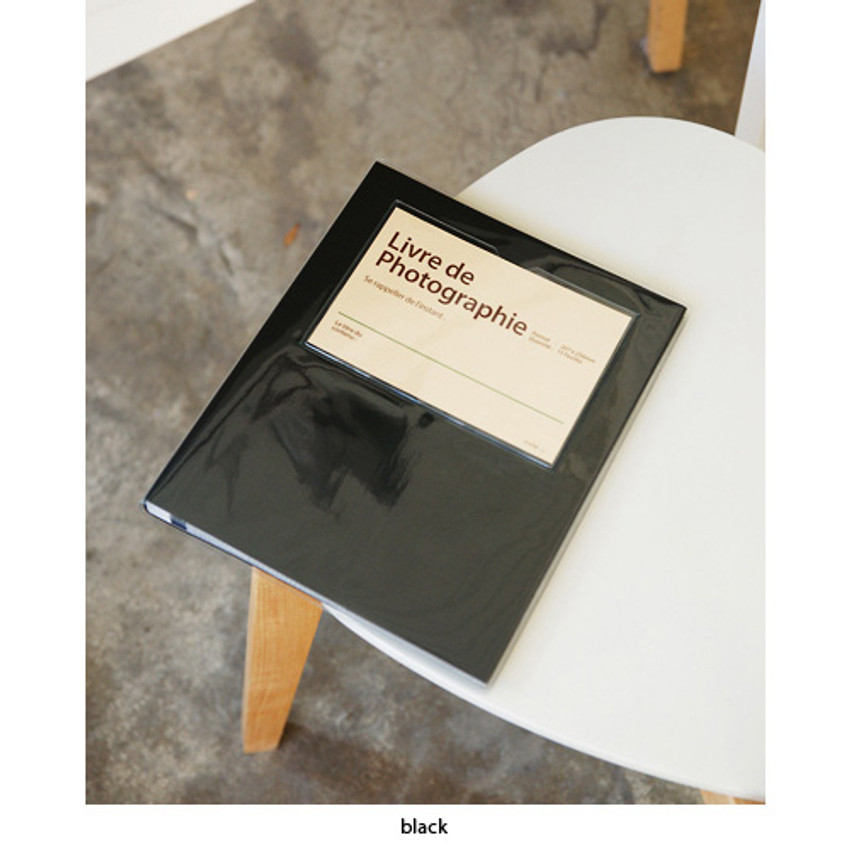 Black - Livre de self adhesive black photo album