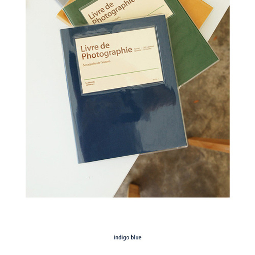 Indigo blue - Livre de self adhesive black photo album