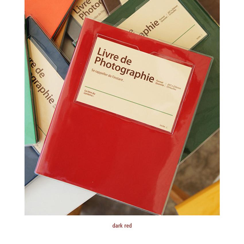 Dark red - Livre de self adhesive black photo album