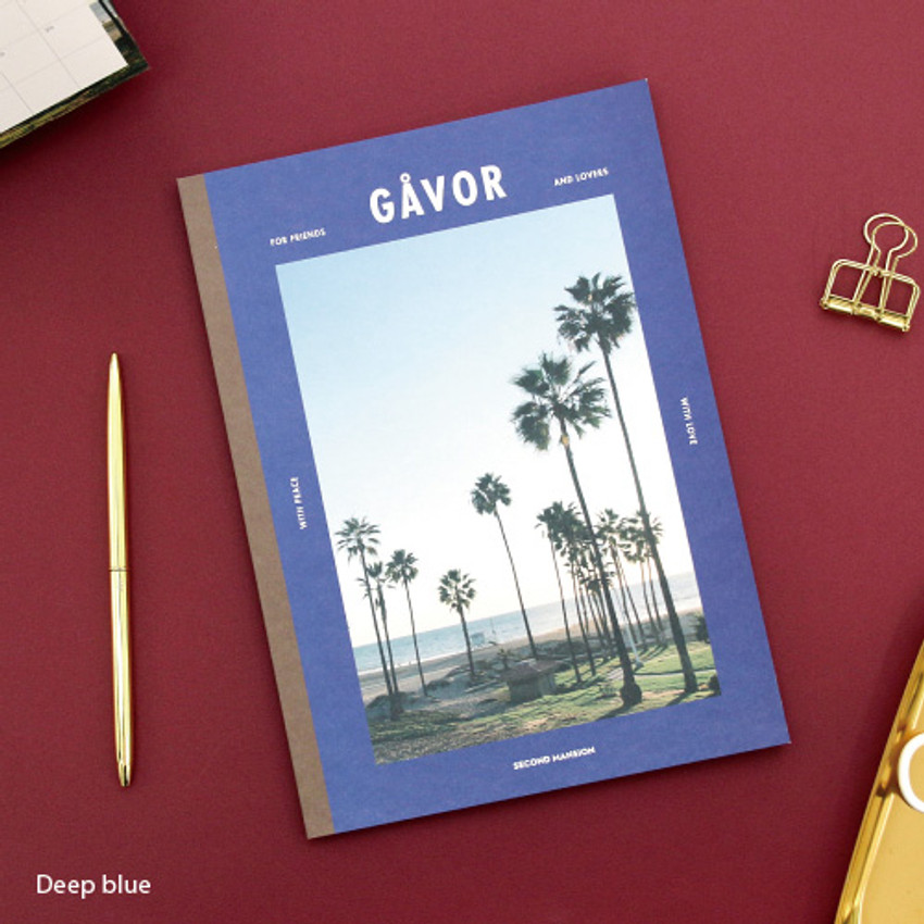 Deep blue - Colorful B5 size grid-lined class notebook