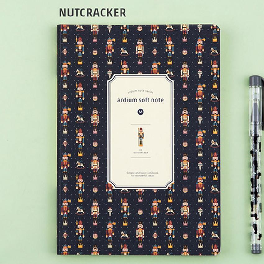 Nutcracker - Colorful pattern medium soft lined notebook