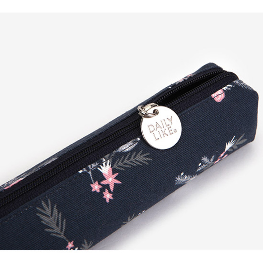 Snow flower - For your heart slim zipper pencil case