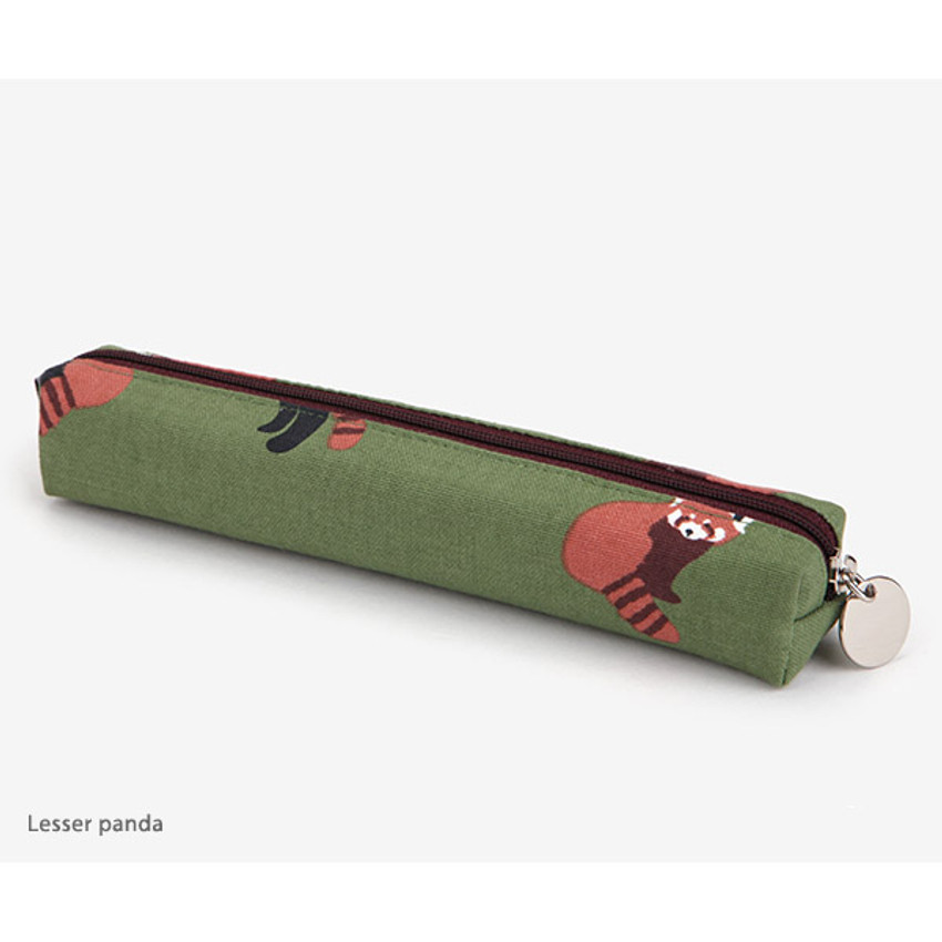 Lesser panda - For your heart slim zipper pencil case