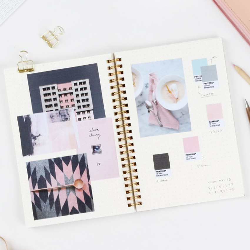 Dot - The classic gold spiral notebook