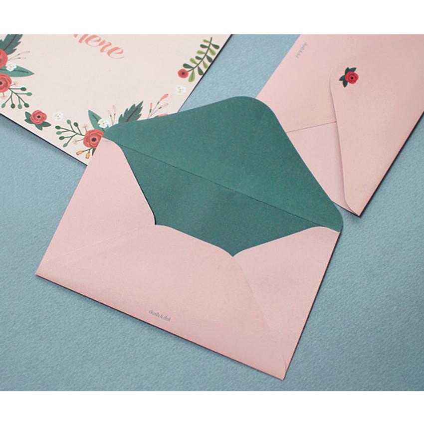 Pink bloom - Pattern illustration letter paper and envelope set