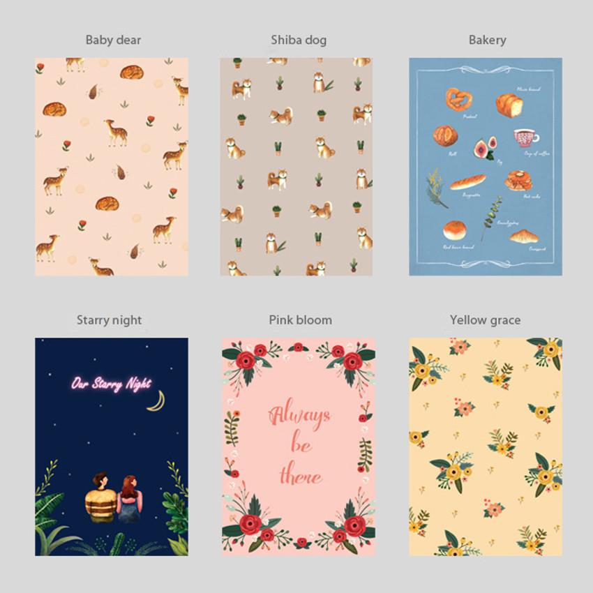 Option of Pattern illustration letter paper and envelope set