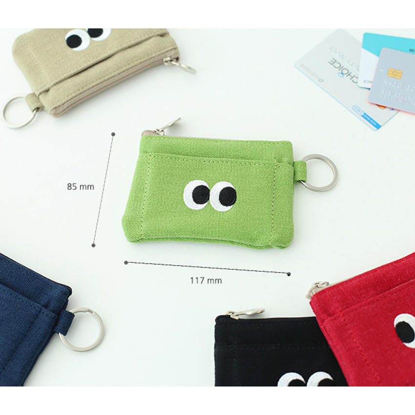 Size of Som Som stitching card case with key ring