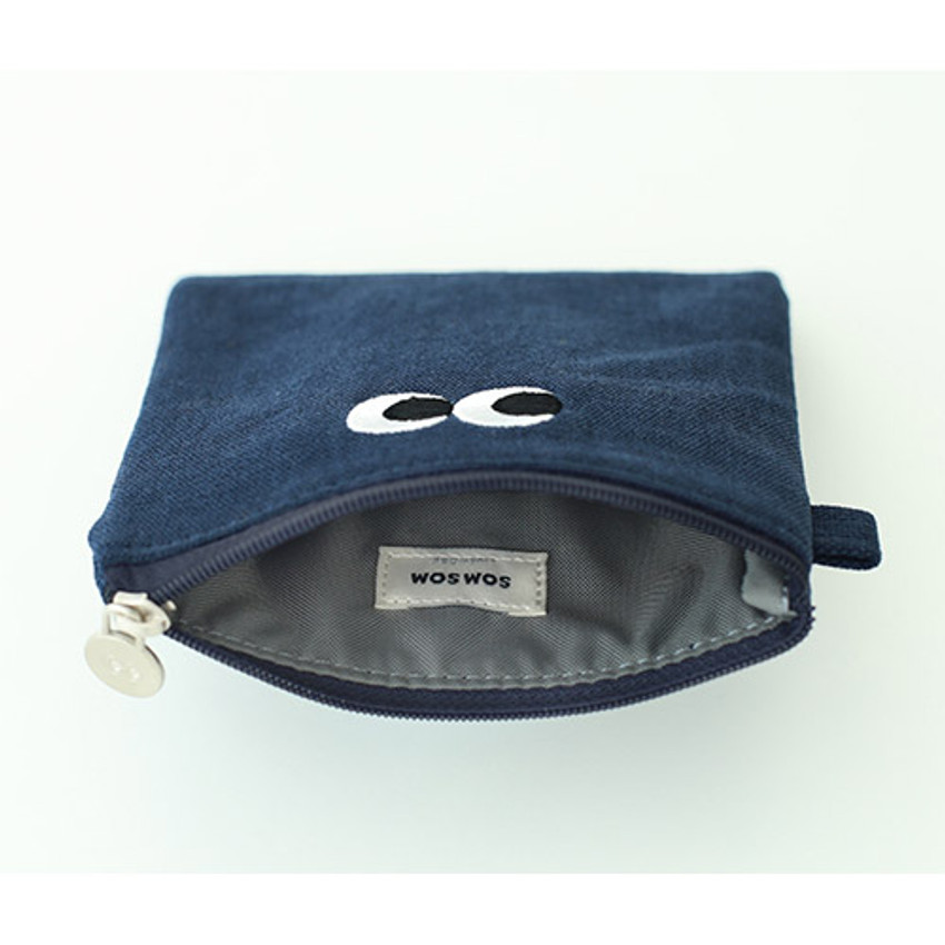 Som Som stitching small zipper pouch