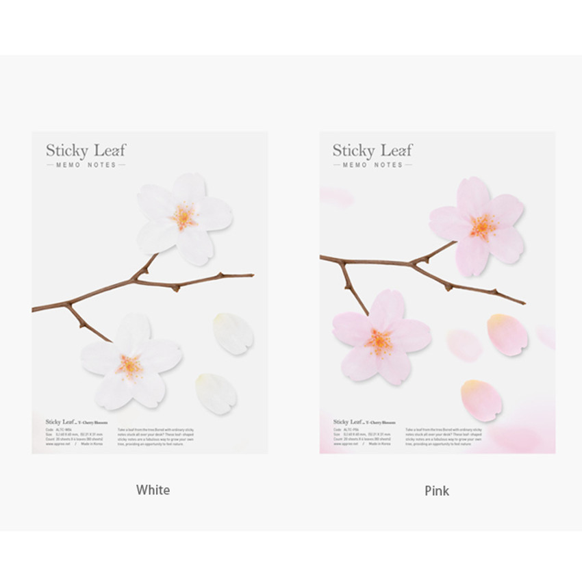 Color of Cherry blossom transparent sticky memo notes Large