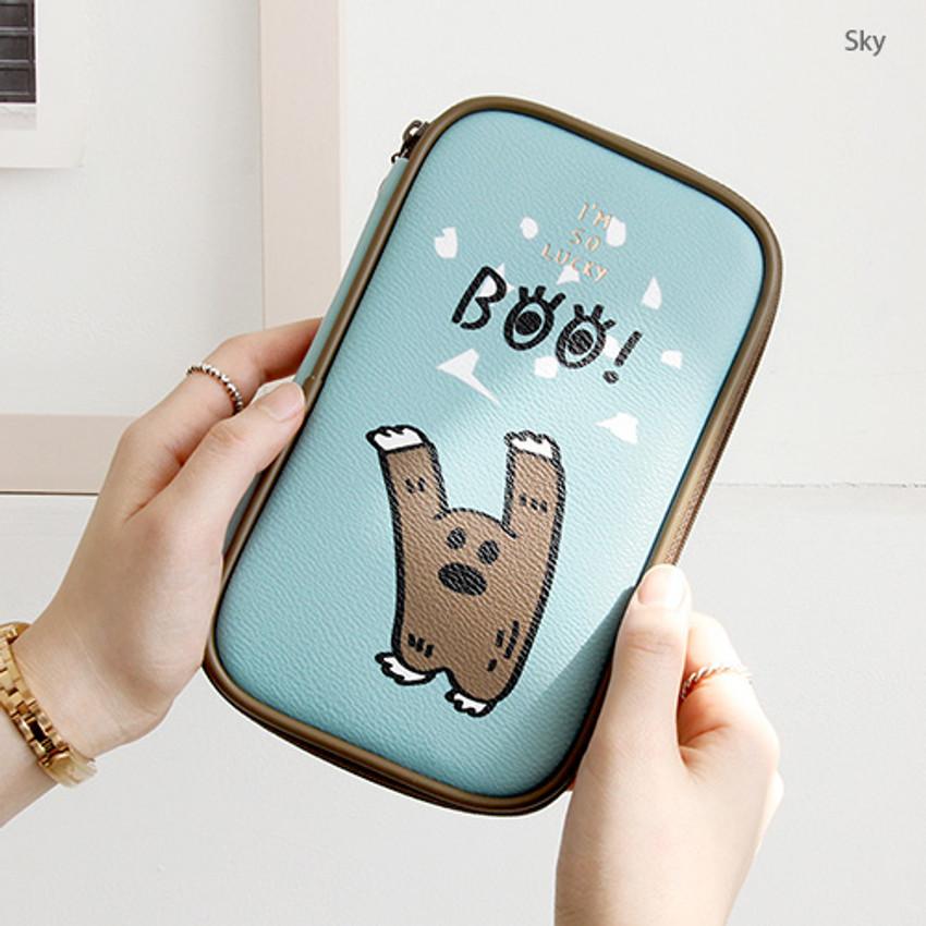 Sky - Ghost pop cute illustration pencil case ver2