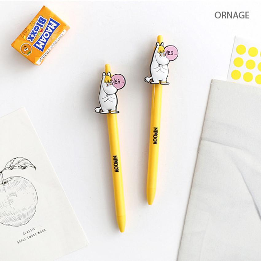 Orange - Moomin color gel pen 0.4mm