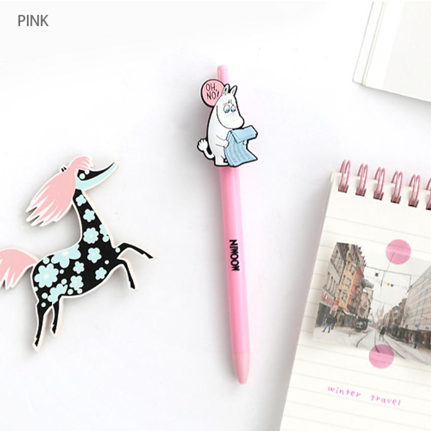 Pink - Moomin color gel pen 0.4mm