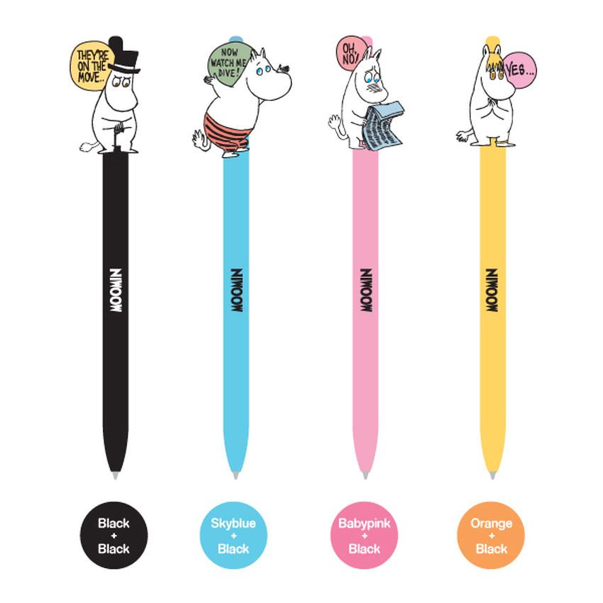 Color of Moomin color gel pen 0.4mm
