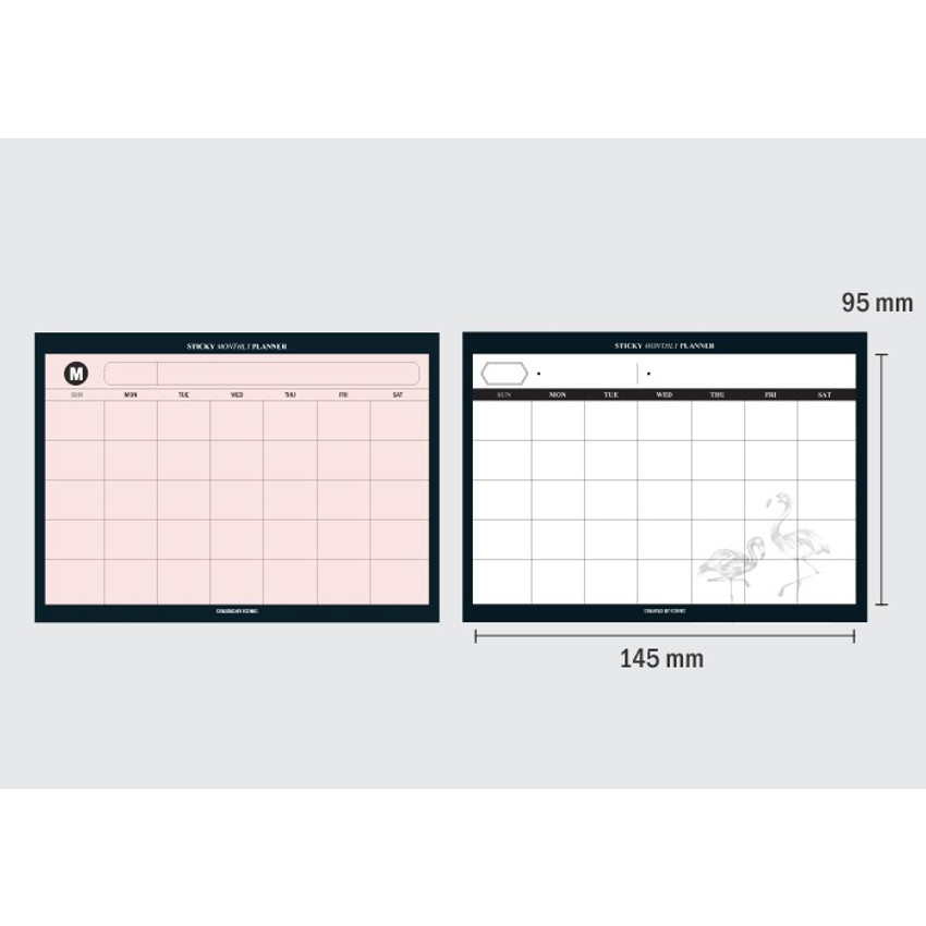Size of Simple sticky monthly planner