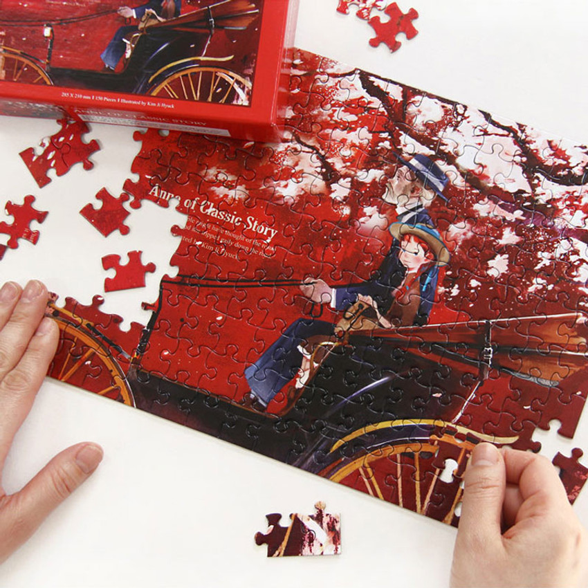 Fairy tale 150 piece jigsaw puzzle - Anne of classic story - Red