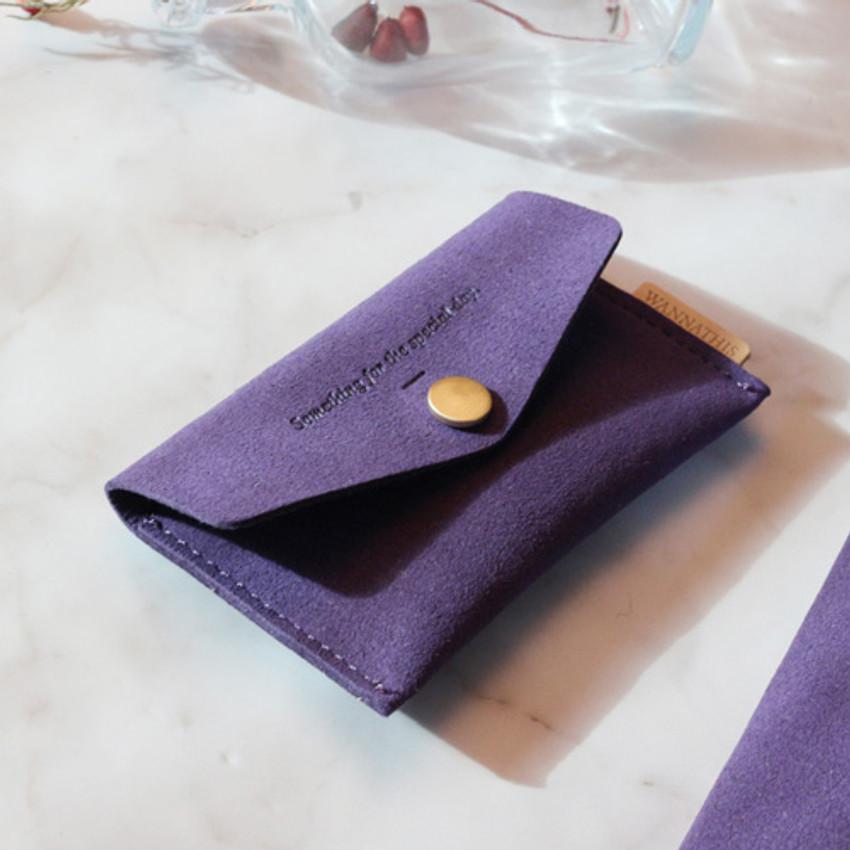 Violet - Wanna be chamude flat pocket card case
