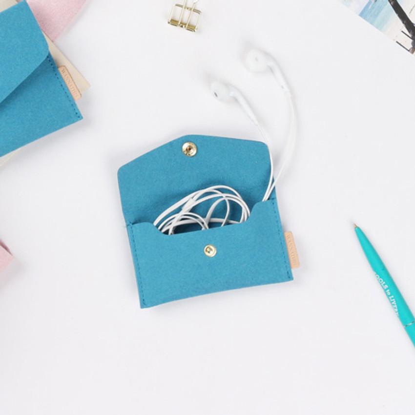 Turkey blue - Wanna be chamude flat pocket card cas