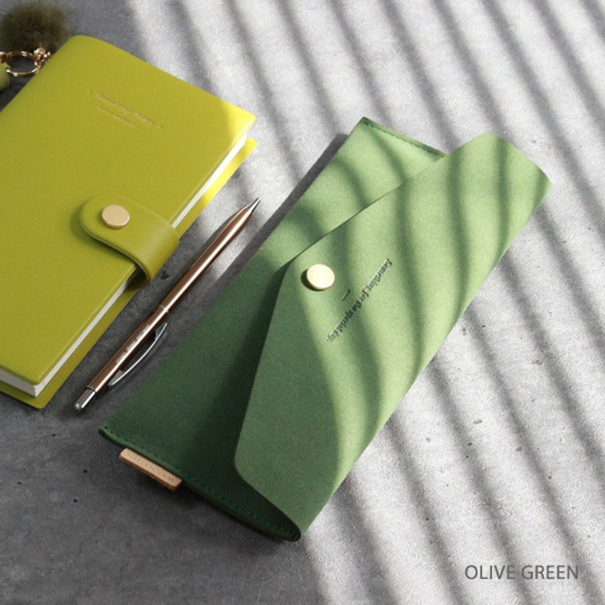 Olive green - Wanna be chamude envelope pouch