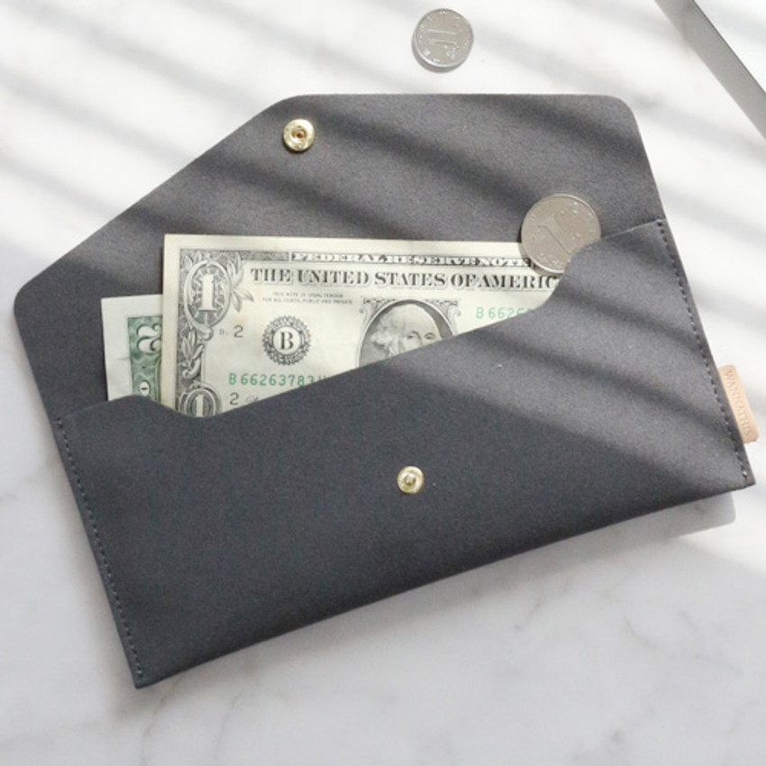 Warm gray - Wanna be chamude envelope pouch