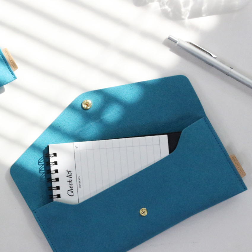 Turkey blue - Wanna be chamude envelope pouch