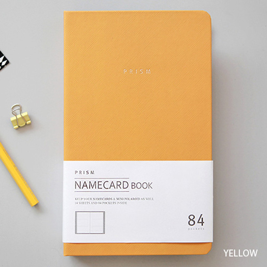 Yellow - Prism slip in pocket name card album