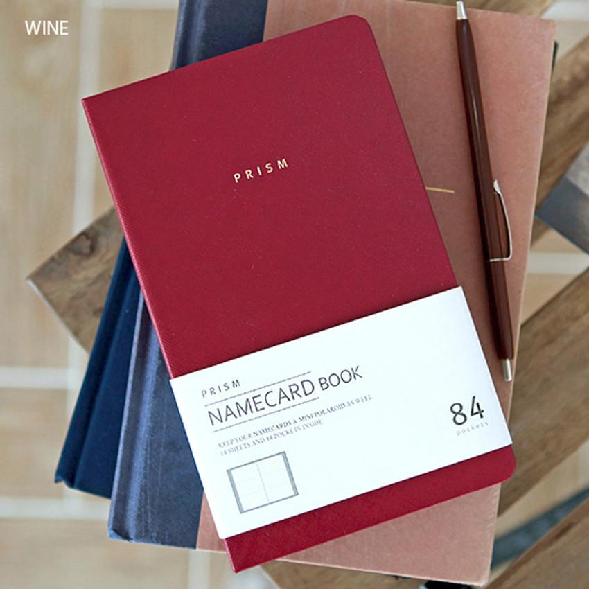 Wine - Prism slip in pocket name card album