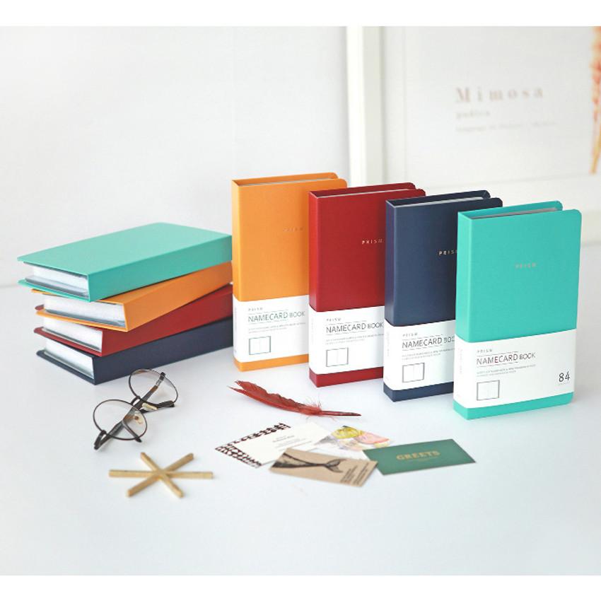 Prism slip in pocket name card album