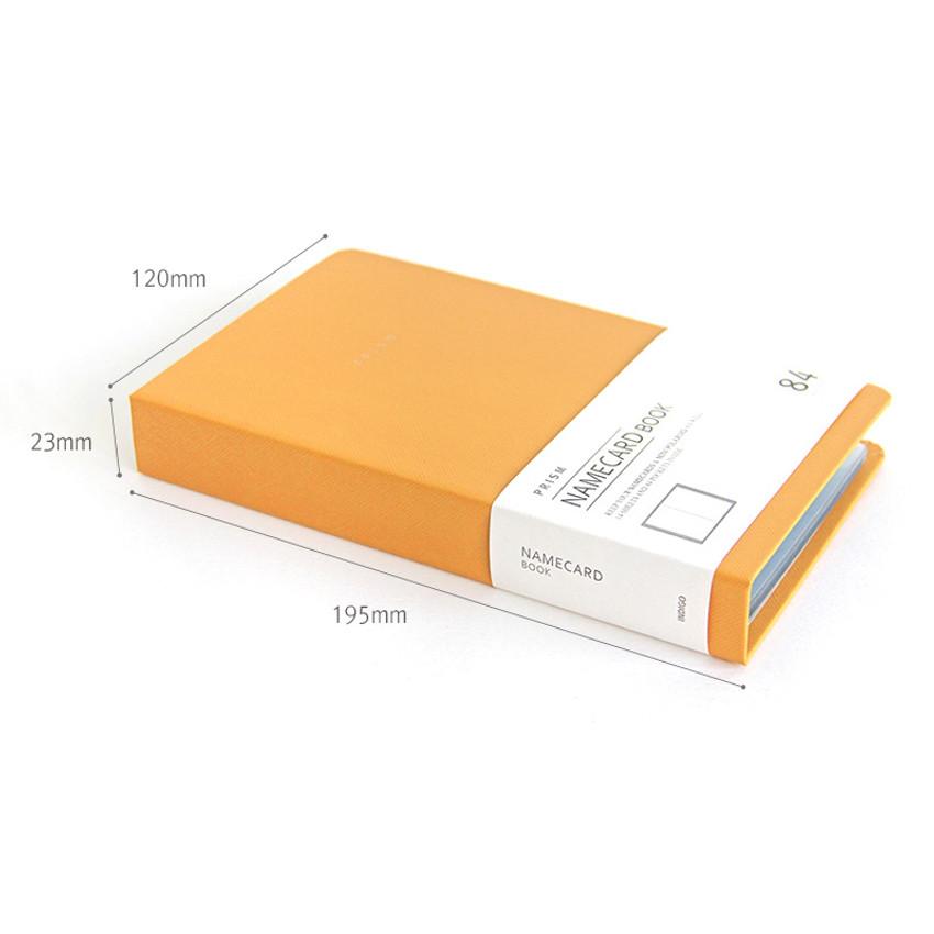 Size of Prism slip in pocket name card album