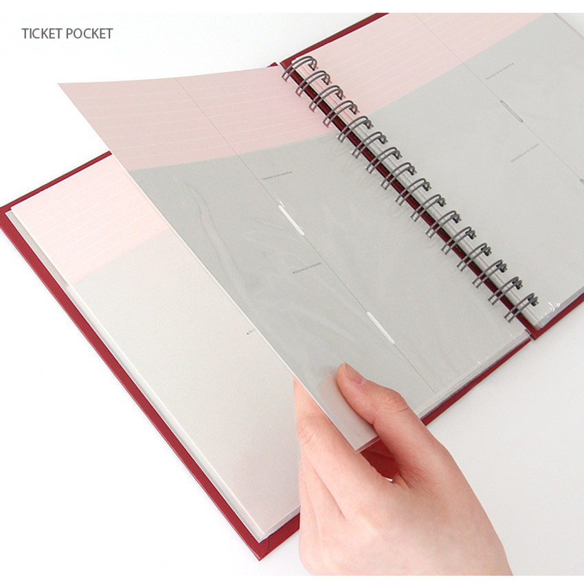 Ticket pocket - Prism spiral slip in pocket ticket album