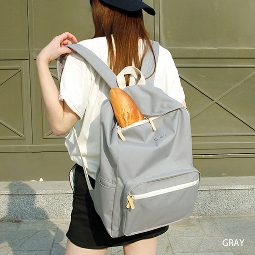 Gray - Around'D mais oui backpack