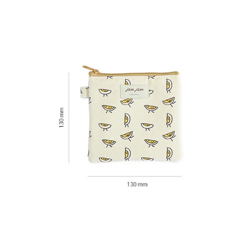 Size of Jam Jam cute illustration pattern small zipper pouch