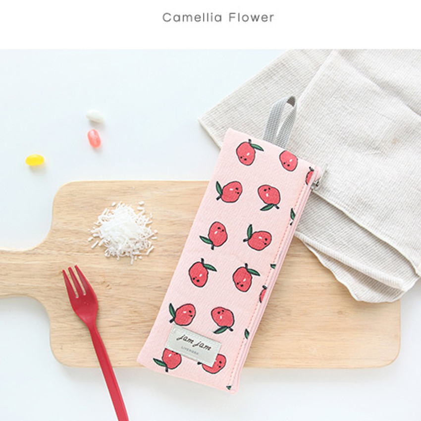 Camellia flower - Jam Jam webbing pencil case ver2