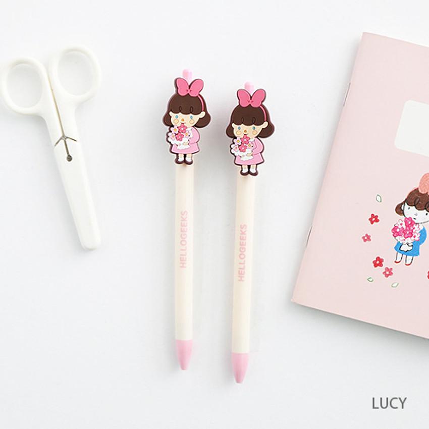 Lucy - ellogeeks petite black gel pen 0.4mm