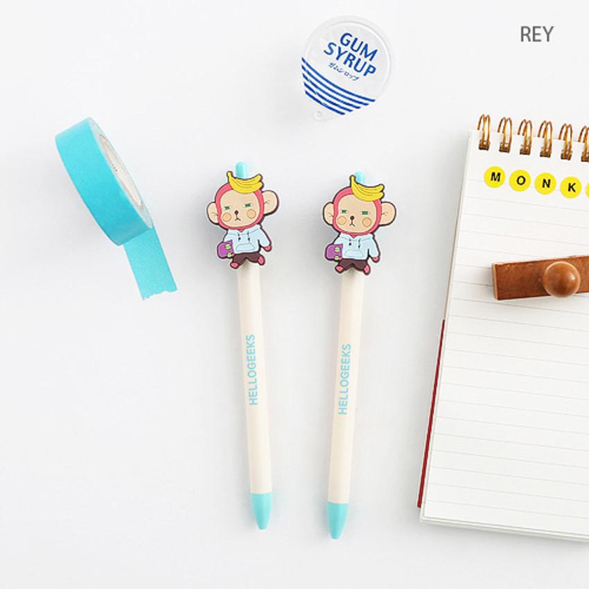 Rey - Hellogeeks petite black gel pen 0.4mm