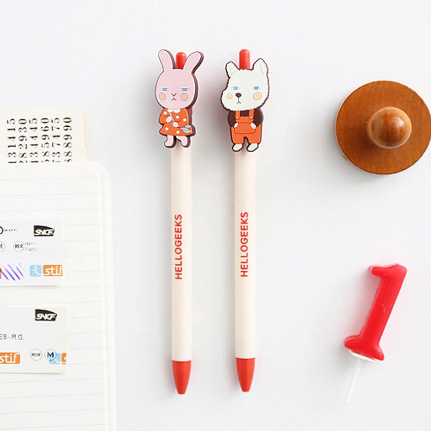 Hellogeeks petite black gel pen 0.4mm