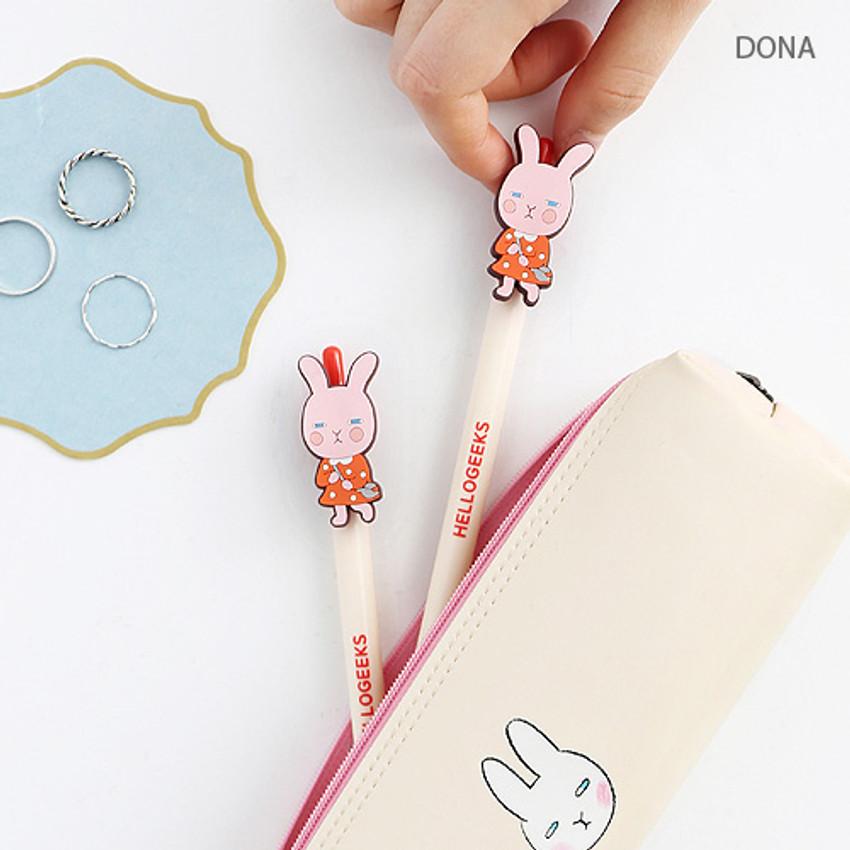 Dona - Hellogeeks petite black gel pen 0.4mm