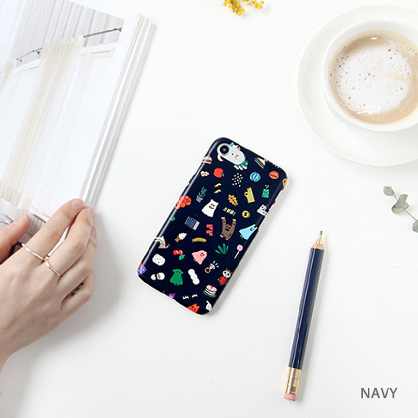 Navy - Ghostpop polycarbonate phone case for iPhone 7