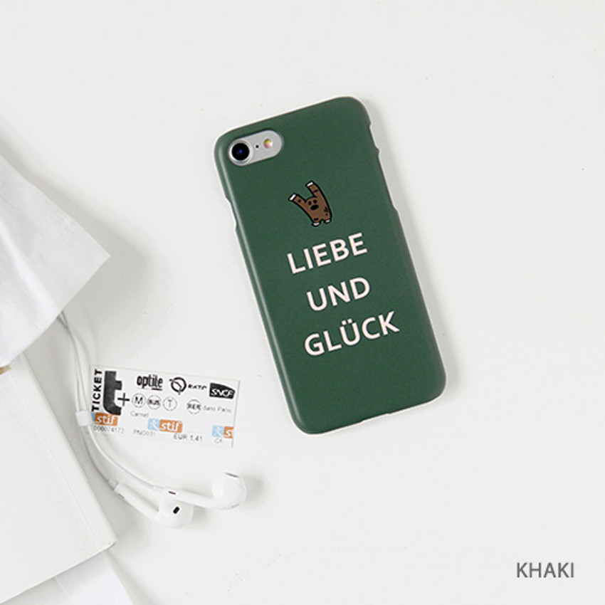 Khaki - Ghostpop polycarbonate phone case for iPhone 7