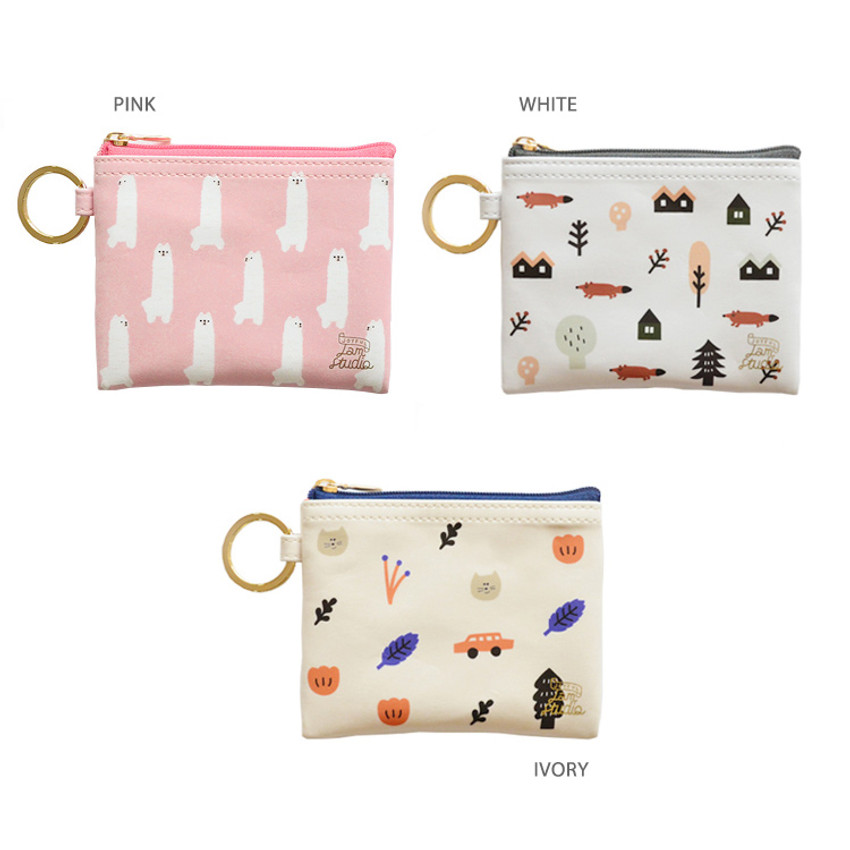 Color of In the zoo coin card zipper wallet with key ring