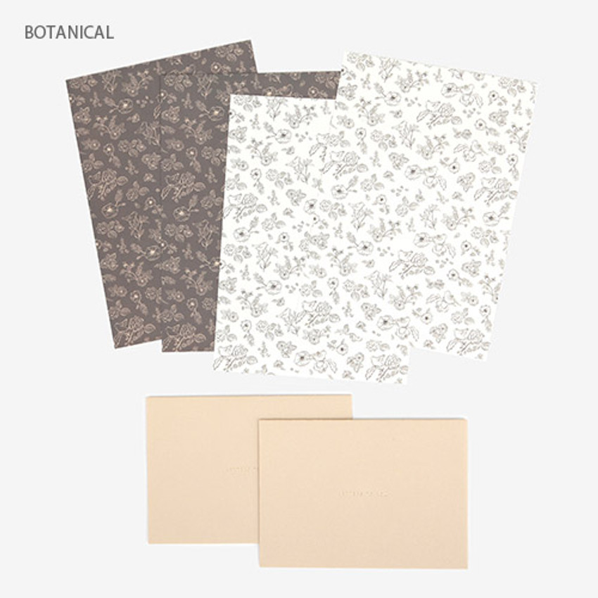 Botanical - Present your heart daily letter paper and envelope set