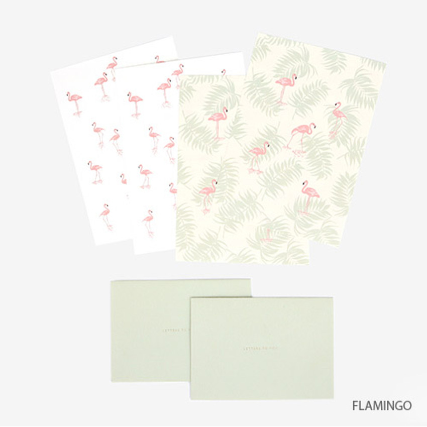 Flaming - Present your heart daily letter paper and envelope set