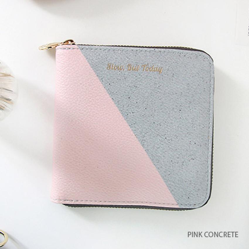 Pink concrete - But today zip around wallet