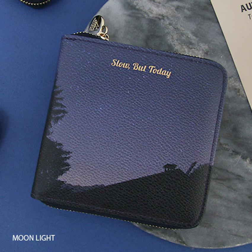 Moon light - But today zip around wallet