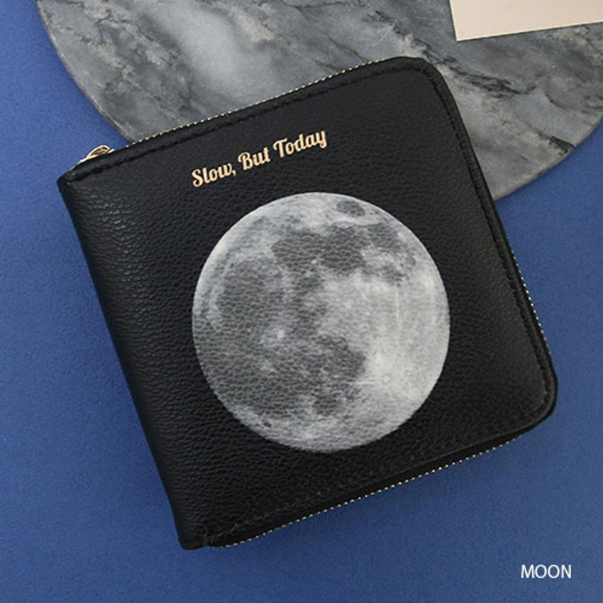 Moon - But today zip around wallet