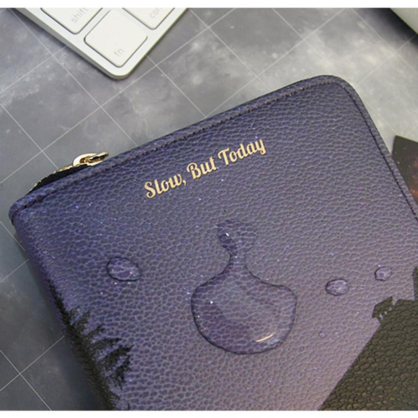 Water resistance - But today zip around wallet