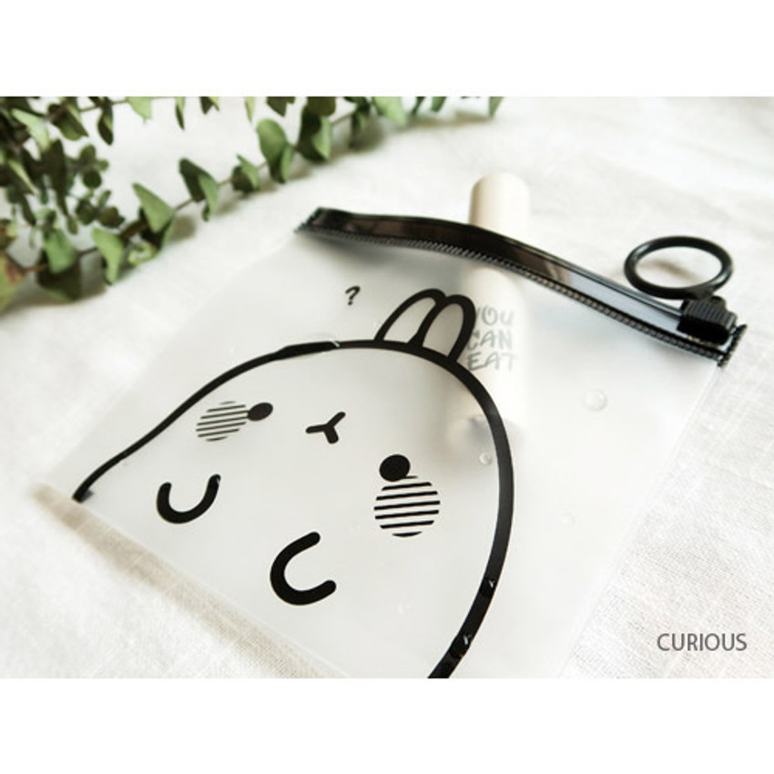 Curious - Molang zip lock small pouch ver.2