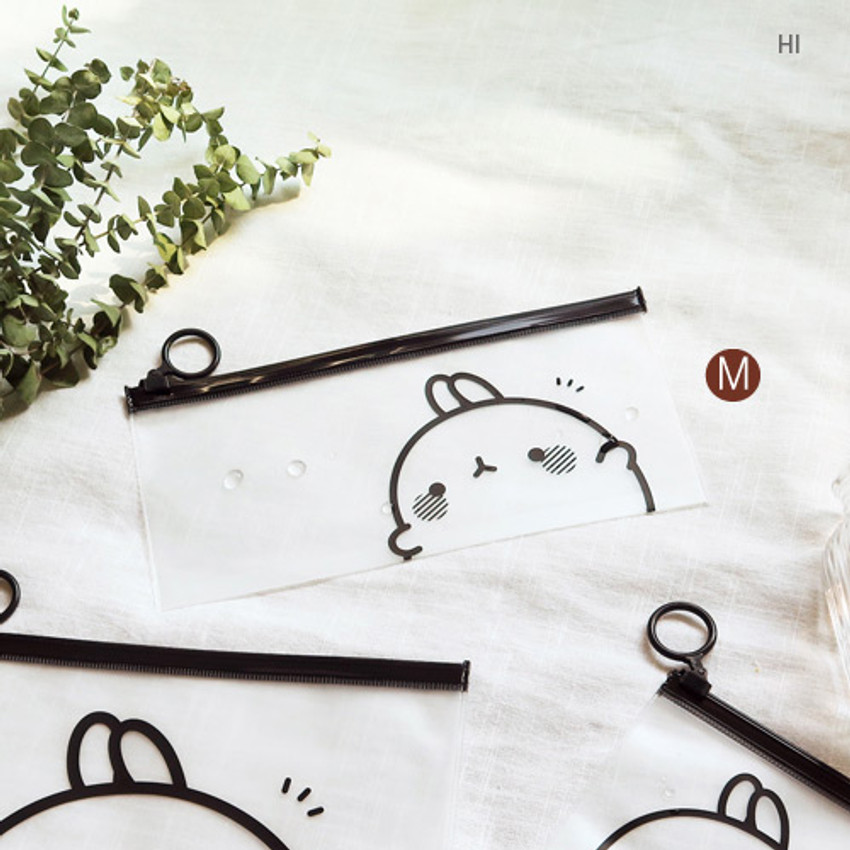 HI - Molang zip lock medium pouch ver2