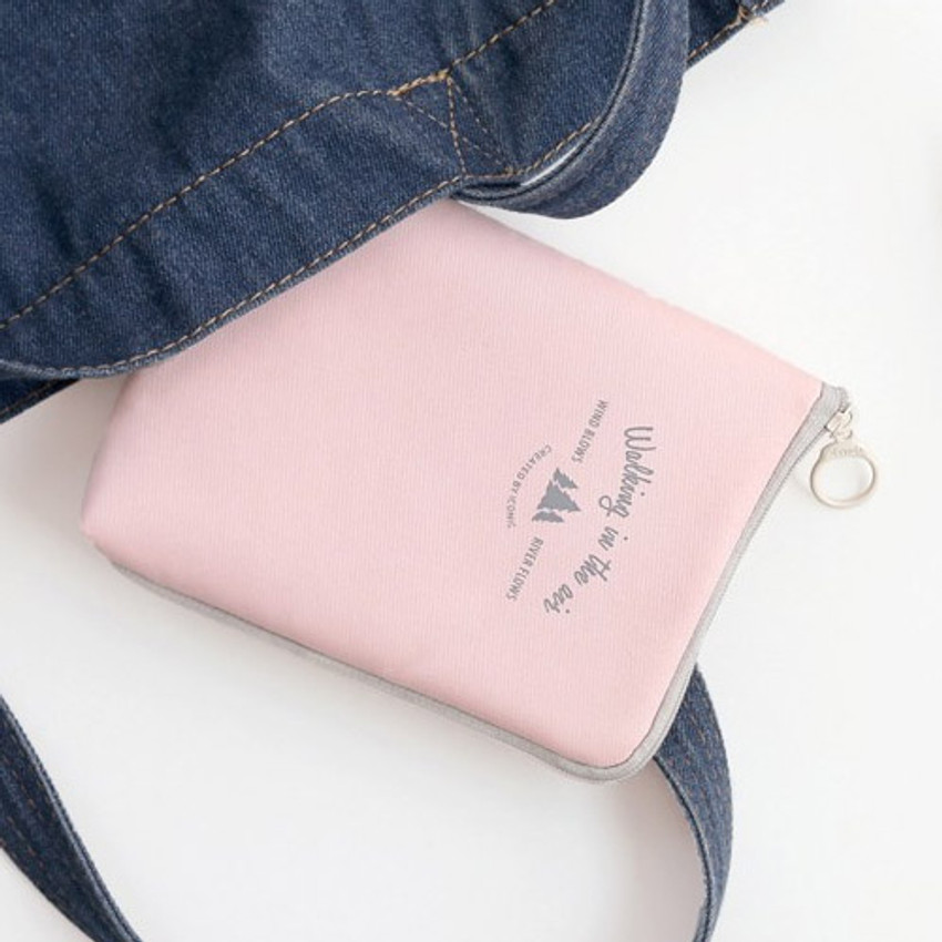 Pink - Walking in the air medium cable pouch