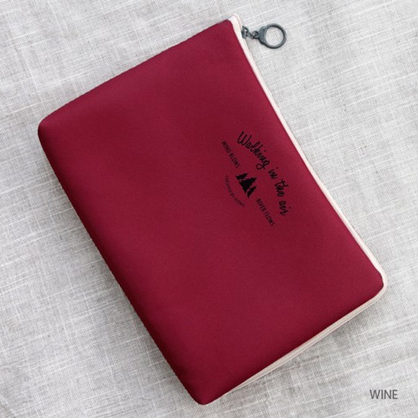 Wine - Walking in the air large cable pouch